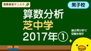 傾向と対策(芝中学2017年第1回)