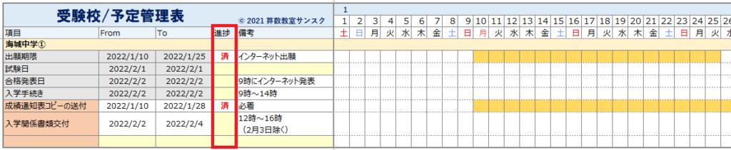 13_過去問管理表_手続き予定表説明